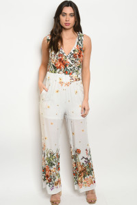 S5-3-2-R25520 OFF WHITE FLORAL ROMPER 2-2-2