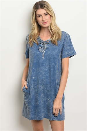 S21-9-1-D4957 DENIM BLUE DRESS 3-2-2