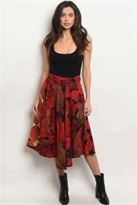 S9-17-4-S30097 RED BLACK SKIRT 2-2-2