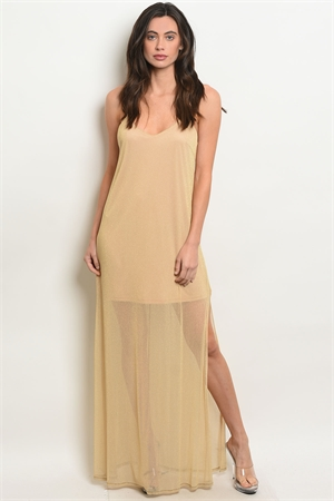 S9-17-4-D20481 TAN GOLD DRESS 2-2-2