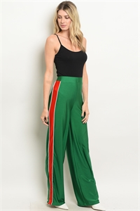 S16-1-4-P23320 GREEN RED PANTS 3-2-1