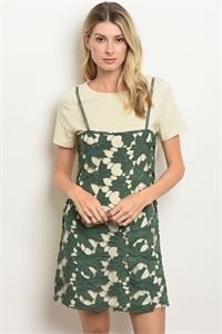 S4-3-5-S007 GREEN CREAM DRESS 3-2-1
