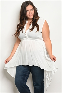 113-1-3-T3569X OFF WHITE PLUS SIZE TOP 2-2-2