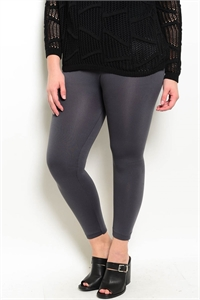 SA4-00-2-L13360X CHARCOAL PLUS SIZE LEGGINGS / 6PCS