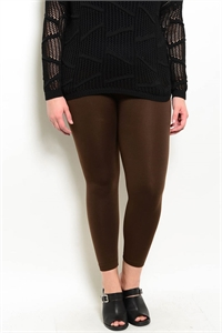 SA4-00-2-L13360X BROWN PLUS SIZE LEGGINGS / 6PCS
