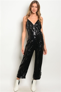 SA4-00-3-J80732 BLACK WITH SEQUINS JUMPSUIT 2-2-2