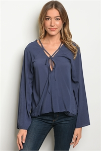 SA4-00-5-T23558 DENIM BLUE TOP 2-2-2