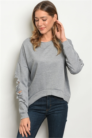 SA4-000-1-T9062 GRAY SWEATER 2-2-2