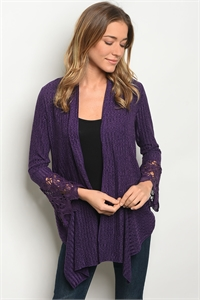 S11-14-3-C59370 PURPLE CARDIGAN 2-2-2