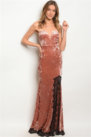 S15-1-5-D5024 ROSE BLACK LACE DRESS 2-2-2
