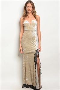 S15-1-1-D5024 CHAMPAGNE LACE DRESS 2-2-2