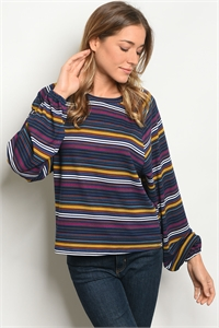 S9-1-5-T66060 NAVY MULTI TOP 2-2-2