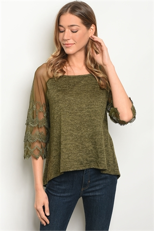 S10-5-5-T10189 OLIVE TOP 2-2-2