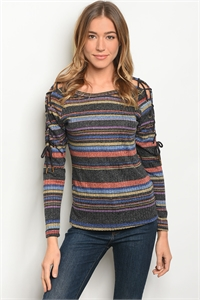 S19-12-1-T10194 BLACK  MULTI TOP 1-1-1
