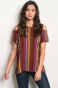 C68-B-2-T5062 WINE MULTI COLOR TOP 2-2-2