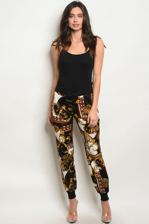 124-3-1-P59367 BLACK MUSTARD PANTS  2-2-2  ***TOP NOT INCLUDED***