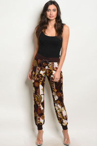 122-3-5-P59367 BURGUNDY MUSTARD PANTS  2-2-2  ***TOP NOT INCLUDED***