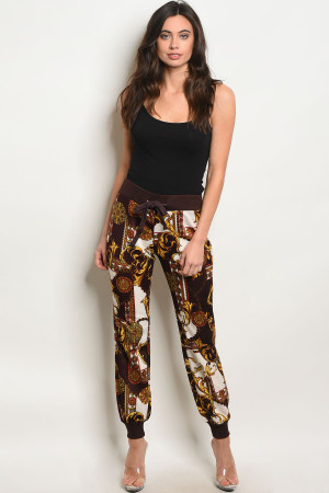 S16-9-3-P59367 BURGUNDY MUSTARD PANTS  3-1-4  ***TOP NOT INCLUDED***