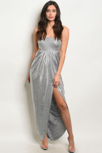 C64-A-4-D6841 SILVER METALLIC DRESS 3-2-1