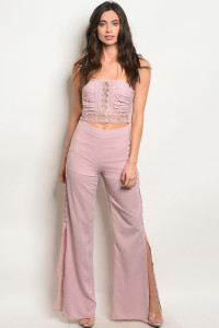 SA3-000-5-SET57065 BLUSH TOP & PANTS SET 2-2-2