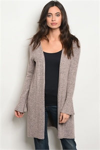 C52-A-3-C31655 BLUSH GRAY CARDIGAN 2-2-2