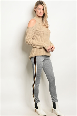 C88-A-7-P14586 GRAY MUSTARD CHECKERED PANTS 2-2-2