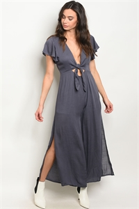 S5-2-2-J8271 CHARCOAL JUMPSUIT 3-2-1