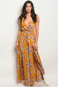 S16-10-2-J7770 YELLOW FLORAL JUMPSUIT 2-1