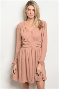 S17-10-3-D8392 TAUPE DRESS 2-2-2