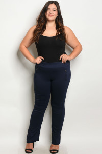 S14-9-2-P4006X NAVY PLUS SIZE PANTS 2-2-2