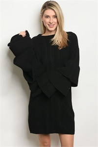 S18-2-1-LS7013B BLACK SWEATER 3-2-3