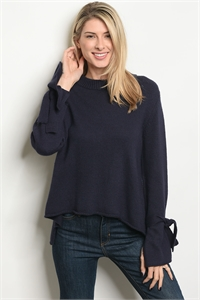 S19-9-1S7012 NAVY SWEATER 3-2-1
