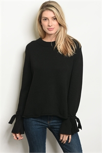 S19-9-1-S7012 BLACK SWEATER 3-2-1
