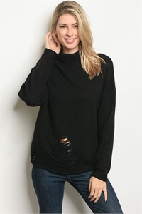 S19-9-1-S7019 BLACK SWEATER 3-2-1