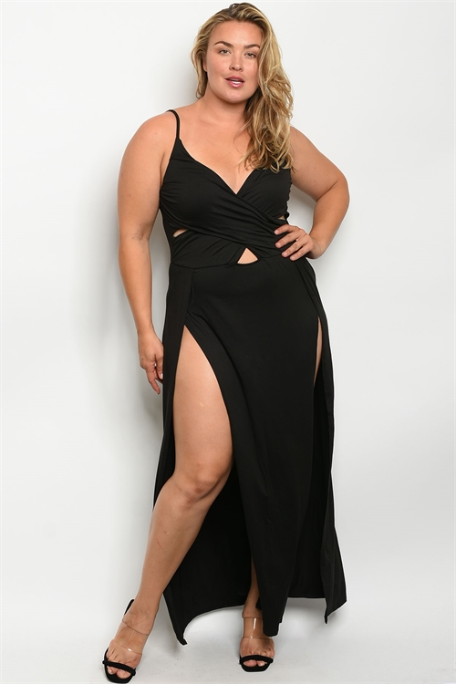 Z-A-3-MD8008X BLACK PLUS SIZE DRESS 2-2-2