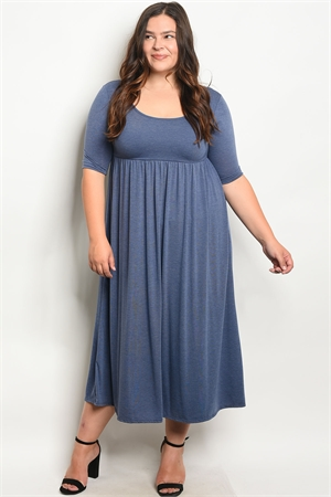 C21-A-1-D2404X INDIGO PLUS SIZE DRESS 3-2-2