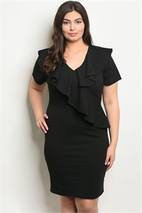 C27-A-1-D594X BLACK PLUS SIZE DRESS 1-3-3