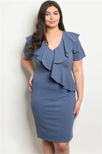 C28-A-3-D594X INDIGO PLUS SIZE DRESS 2-2-2