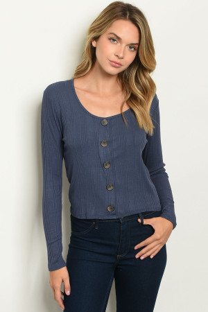 C2-B-1-T5729 DENIM TOP 2-2-2