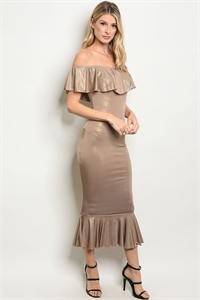 C40-A-3-D170097 TAUPE GOLD DRESS 2-2-2