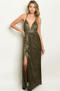 S12-1-2-D9304 BLACK GOLD WITH SHIMMER DRESS 2-2-2  ***WARNING: California Proposition 65***