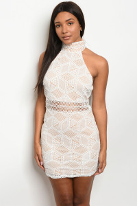 S12-4-1-D3026 WHITE NUDE DRESS 3-2-1