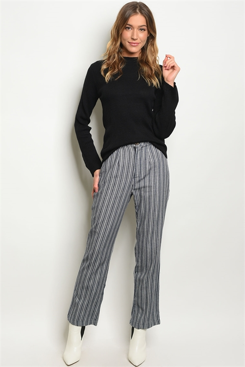 C19-A-1-P5593 INDIGO WHITE STRIPES PANTS 4-2-1