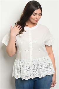 S20-7-4-T59312X OFF WHITE PLUS SIZE TOP 2-2-2