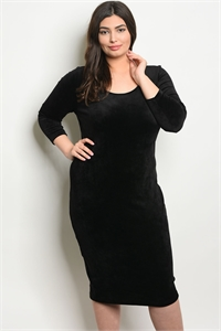 C62-A-5-D11138X BLACK PLUS SIZE DRESS 2-2-2