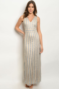 S15-5-1-D9044 NUDE SILVER WITH SHIMMER DRESS 2-2-2  ***WARNING: California Proposition 65***