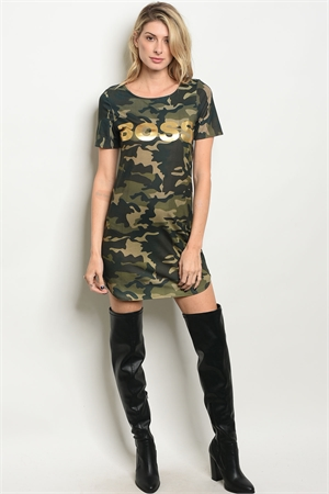 S12-5-3-D7551 OLIVE CAMOUFLAGE DRESS 2-2-1