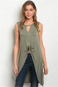 C45-A-2-T2160 OLIVE TUNIC TOP 2-2-2