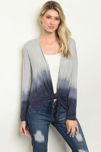 C46-A-2-C29922 GREY BLUE TYE DYE CARDIGAN 2-2-2-1