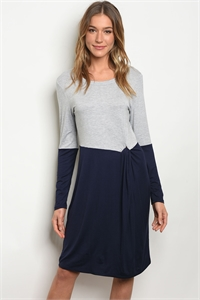 C50-A-5-D3514 GREY NAVY DRESS 2-2-2
